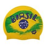 Touca de Natação Arena Bandeira do Brasil Verde/amarelo