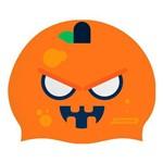 Touca de Silicone para Natação Pumpkin Face Orange