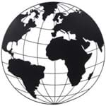 Tour Du Monde Adorno Parede Preto