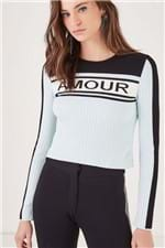 Tr Cropped Amour Azul Glow - P