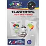Transparencia Inkjet Inkjet A-4 C/tarja 150g. Off Paper Pct.c/10