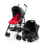 Travel System Safety Carrinho, Base e Bebê Conforto - Red