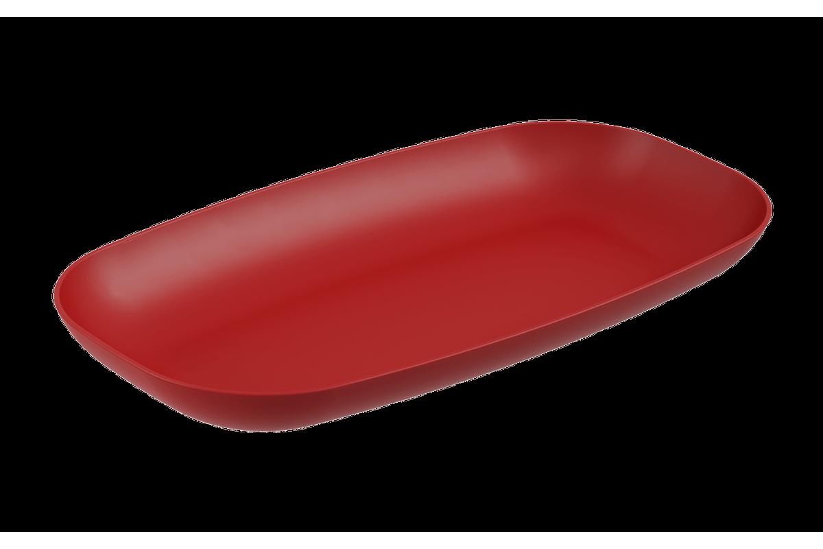 Travessa Retangular Grande Essential 43,5 X 23,8 X 4,7 Cm Vermelho Bold Coza