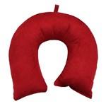 Travesseiro de Pescoço Veludo Cristal Vermelho