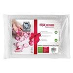 Travesseiro Fibrasca Toque de Rosas Plumax Lavável - P/ Fronha 50x70
