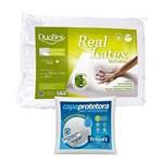 Travesseiro Real Látex 50x70cm Duoflex com Capa Protetora