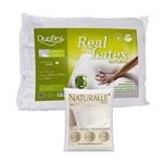 Travesseiro Real Látex 50x70cm Duoflex com Fronha Branca