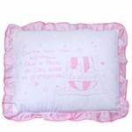 Travesseiro Rosa com Frase Papi 35cm X 28cm