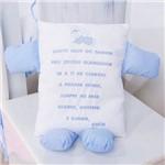 Travesseiro Soninho Oração Azul Bebê