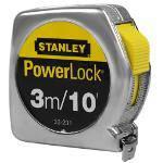 Trena Powerlock 3 Metros Caixa Metálica 33-231s - Stanley
