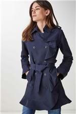 Trench Coat Babados Azul - 36