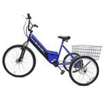 Triciclo Elétrico Basic 350W 36V Azul/Preto