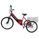 Triciclo Elétrico Basic 350W 36V Vermelho/Preto