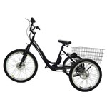 Triciclo Elétrico Deluxe Lithium 350w 36v Preto/branco