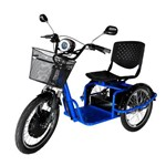 Triciclo Elétrico Machine Motors Force 800W 48V Azul