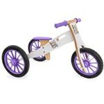 Triciclo 2 em 1 (vira Bicicleta de Equilíbrio) NEVE ROXA