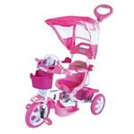 Triciclo Et Capota Removível com Música e Luzes Rosa - Bel Brink