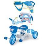 Triciclo Love Baby com Capota e Sons Azul - Cotiplás 2005