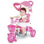 Triciclo Love Baby com Capota e Sons Rosa 2004 - Cotiplás