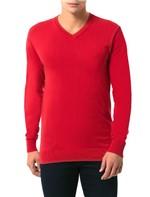 Tricot Básico Calvin Klein Gola V Vermelho - M