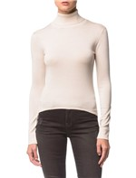 Tricot Ckj Fem Ml Gla Alta - Off White - PP