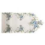 Trilho de Mesa 40x170 Flores Azuis - Claudia Simões Casa