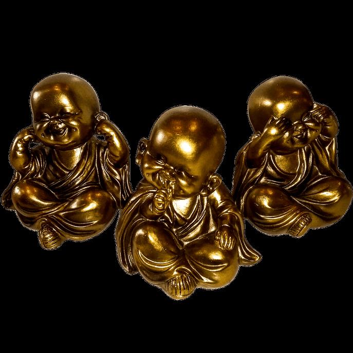 Trio Budas Bebês Dourado