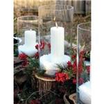 Trio de Velas Cilíndricas 5cm, 10cm e 15cm Decoração Festas