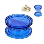 Triturador de Alho Manual Azul