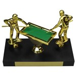 Troféu de Sinuca Bilhar com 28 Cm Jogadores e Mesa Premium Globo