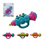 Trompete Musical Infantil Baby Brinca Bebe Colors com Luz a Pilha na Cartela Wellkids