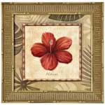 Tropical Flores I Quadro 38 Cm X 38 Cm Natural/multicor