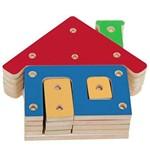 Troque e Encaixe as Cores Casa com 20 Peças Coloridas 1603 - Carlu