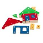 Troque e Encaixe as Cores - Casa - Montar e Encaixar Pedagógico - Carlu - Ref 1603