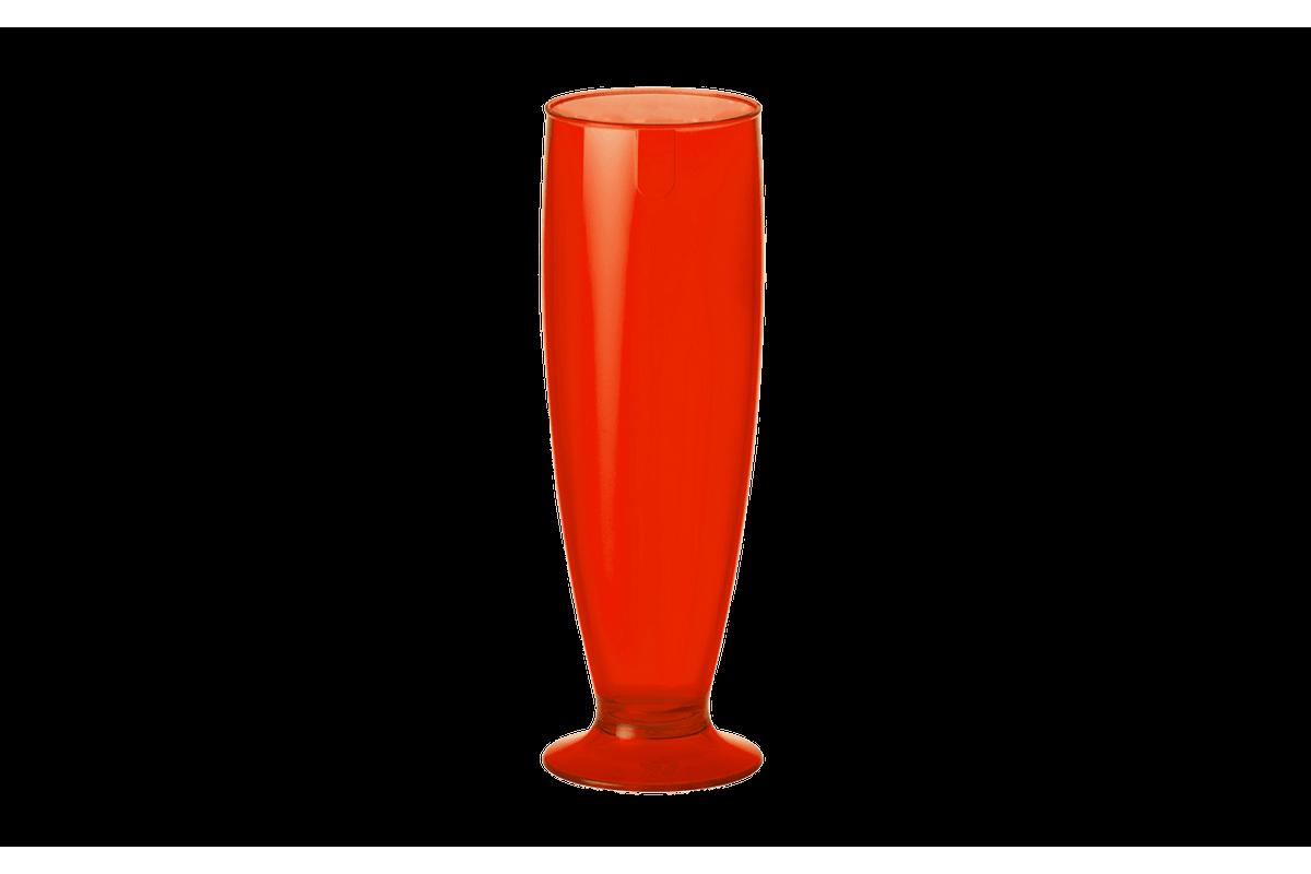 Tulipa - Fun 6,1 X 6,1 X 18,5 Cm 300 Ml Vermelho Transparente Coza
