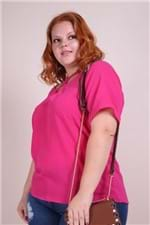 Tunica Crepe Plus Size Pink PP