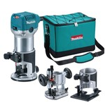 Tupia com Bases 6 Mm 710W - RT0700CX2 - Makita - 110 Volts