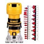 Tupia Manual Laminados 1/4'' DWE6000-BR 220V Dewalt + Fresas 24pçs 680400 Lee Tools