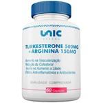 Turkesterone 500mg + Arginina 150mg - 60 Cáps Unicpharma