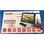 Tv Digital Portátil Led Monitor Hd 7 Polegadas Usb Sd Tomate