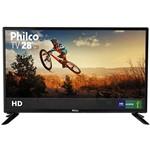 "TV LED 28"" Philco PH28D27D HD com Conversor Digital USB 2 HDMI 60Hz"