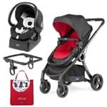 Urban Travel System: Carrinho Urban Plus + Color Pack Red Wave + Adaptador + Poltrona Auto Fix Fast Black Night - Chicco