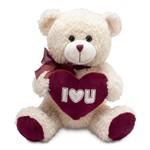 Ursinho de Pelúcia Love Buba Toys Bege Claro