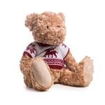 Urso de Pelúcia Decoração Natal 25cm Marrom