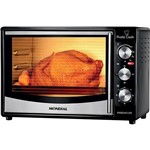 USADO: Forno Elétrico Mondial FR-10 Pratic Cook 32 Litros Preto e Inox