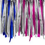 Varal de Fita Metalóide C/10 Metros Azul, Prata e Pink