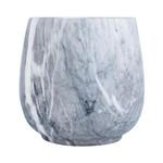 Vaso All Round Marble Pequeno Cinza