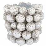 Vaso Cerâmica Cactus Branco 29x30cm - Occa Moderna