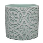 Vaso Cerâmica Royal Flowers 7 Cm Verde