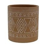 Vaso Cerâmica Terracota 9 Cm Maya Barro